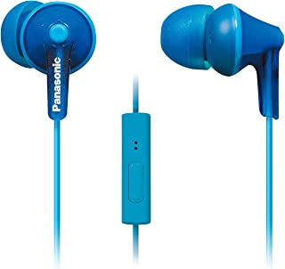 Panasonic ErgoFit in-Ear Earbuds Headphones with Mic/Controller RP-TCM125-A (Blue)