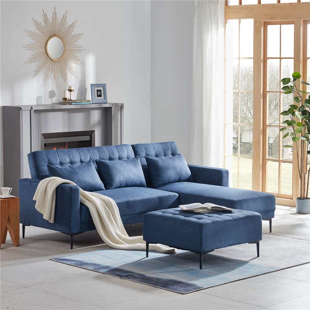 Multi-Functional Adjustable 正規逆輸入品 Sectional Sofa 限定モデル Bed C with Pillows 3