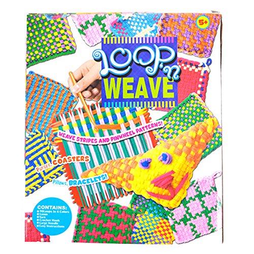 Mily Children Creative Elastic String Weaves Toys DIY Handmade Crafts Loops Kits Toys(Multicolored)