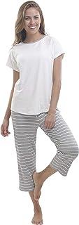 jijamas Incredibly Soft Pima Cotton Women's Pajamas Set - Capri