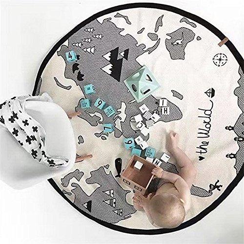 Cotone Per Bambini Rotonda Crawling Floor Play Mat Toys Gioco Avventura Mappa Del Mondo Pieghevoli Tappetini Baby