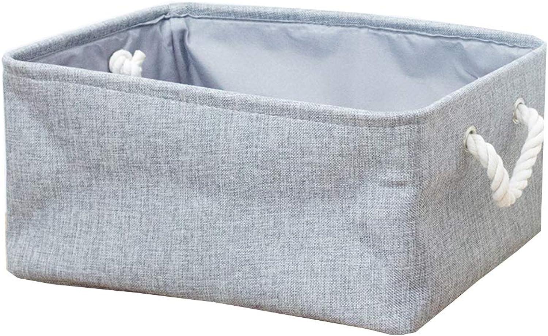 Living Room Storage Basket, Bedroom Storage Basket Fabric Folding with Handle Restroom Office Multifunctional Storage Basket-F