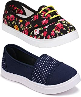 Shoefly Women Multicolour Latest Collection Sneakers Shoes- Pack of 2 (Combo-(2)-11031-611)