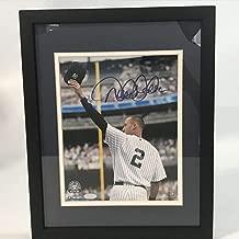 Framed Autographed/Signed Derek Jeter New York Yankees 8x10 Baseball Photo Steiner Sports COA