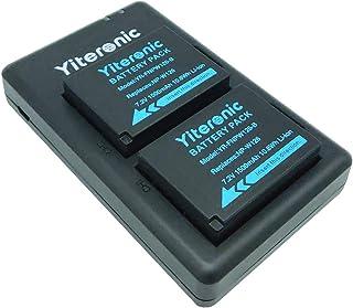 NP-W126 NP-W126S Yiteronic 互換 カメラ バッテリー 2個+急速デュアル充電器 対応機種 FUJIFILM NP-W126/NP-W126S 富士フィルム X-T3 X-T2 X-T1 X-A5 X-E3 X-E2 X-E1 X100F X-H1 X-M1 X-Pro2 X-Pro1 X-T20 X-T10