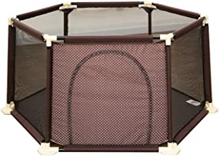 WANNA ME Baby Playpen Children s play fence indoor baby fence safe crawling home baby toddler fence Strong And Durable Made From Non-To  color BROWN  Size 180X67cm