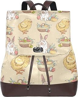 Fantasio Mochilas de Pascua Vintage Huevos de Pascua Bunny Chick School Bag Daypack