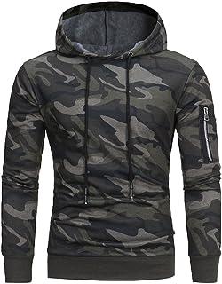 Men's Hooded Sweatshirt,Mens' Long Sleeve Camouflage Hoodie Hooded Sweatshirt Tops Jacket Coat Outwear