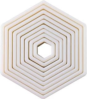 9-Piece Hexagon Nylon Cookie Cutter Set (Hexagon)