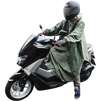 極厚 レインポンチョ バイク 自転車 原付 スクーター フリーサイズ レインコート レインウェア 雨ガッパ (グリーン) PR-RAIN-PONCHO-GR