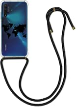 kwmobile Crossbody Case Compatible with Huawei Nova 5T - Clear TPU Cell Phone Mobile Cover Holder with Neck Cord Lanyard S...
