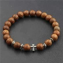 Charm Wood Beads OM Lotus Bracelet Men Tibetan Buddhist Mala Buddha Bracelet Yoga Rosary For Women Men Necklace
