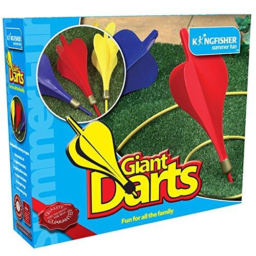 Kingfisher GA002 - Juego de DardosGigantes para jardín