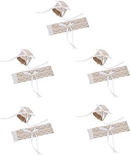 Jixista Anelli Portatovaglioli Rustico Anelli di Tovagliolo di Carta Lace Portatovagliolo Fibbia Nozze Portatovaglioli Ane...