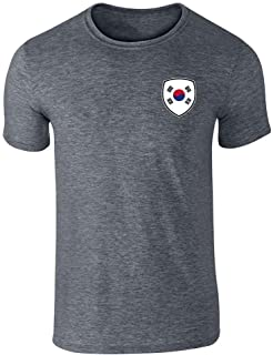 South Korea Soccer Retro National Team Costume Graphic Tee T-Shirt for Men