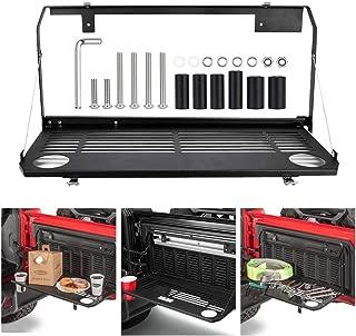 BORDAN Foldable Rear Door Tailgate Table Rear Cargo Shelf Rear Storage Rack for 2018-2019 Jeep Wrangler JL 2/4 Door Accessories