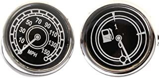 Speedometer & Fuel Guage MPH Race Car Auto Racing Pair Cufflinks in a Presentation Gift Box & Polishing Cloth