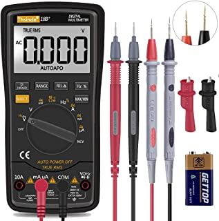 Digital Multimeter, TRMS 6000 Counts Volt Meter with Battery Alligator Clips Test Leads AC/DC Voltage/Account,Voltage Aler...