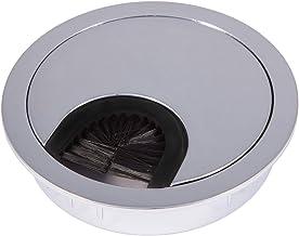 2 stuks SOTECH kabeldoorvoer chroom gepolijst met borstelafdichting, boormaat Ø 68 mm