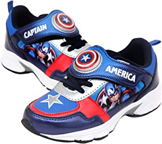 Joah Store Boy's Avengers Light Up Sneakers Iron Man Captain America Cushion Shoes (Parallel Import/Generic Product)