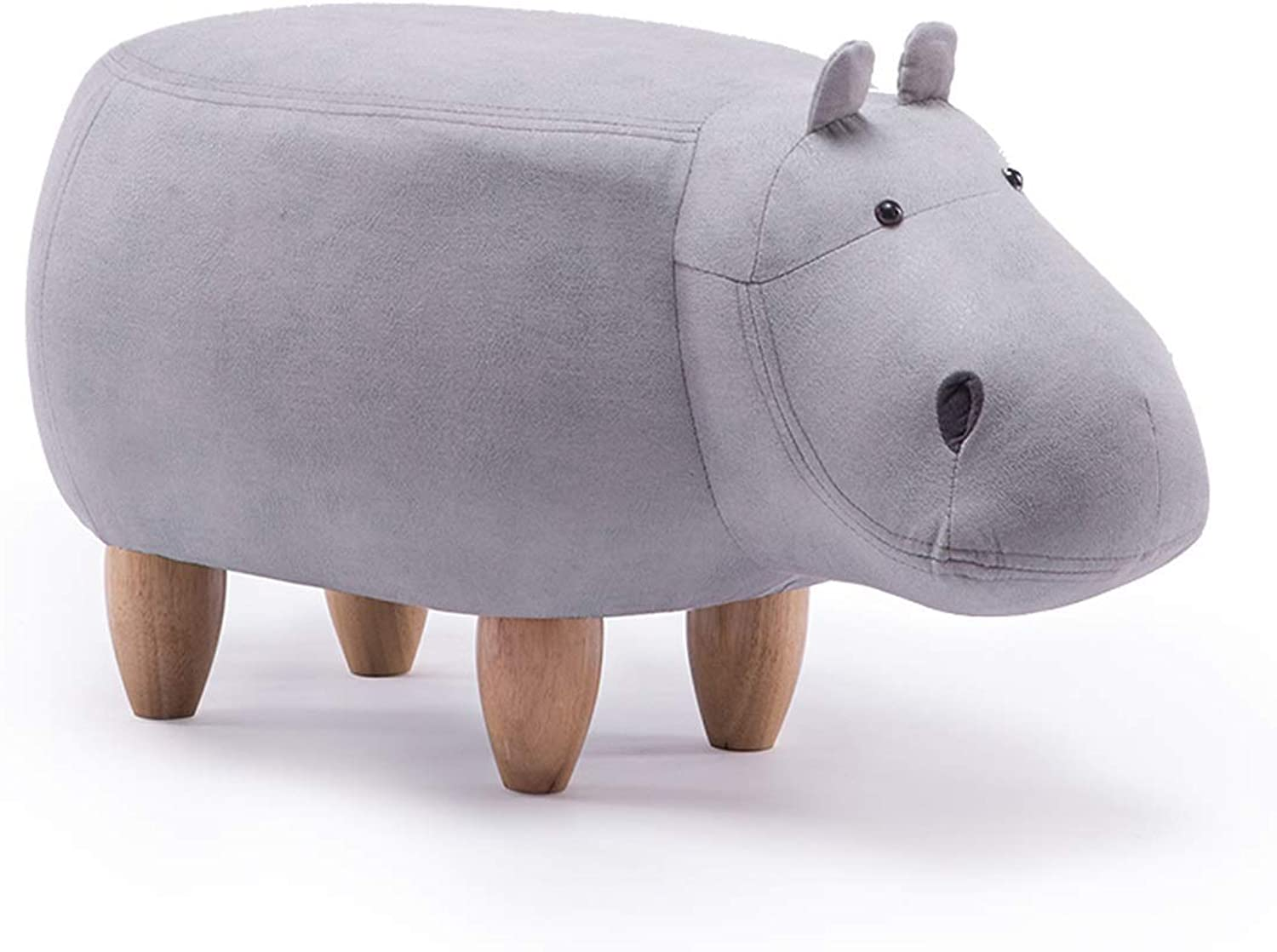 Solid Wooden Footstool Creative Hippo shoes Stool Sofa Stool Living Room Cartoon Low Stool shoes Stool 6 Carl Artbay Strong and Practical