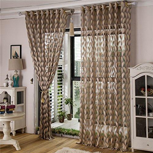 Met Love Leaf Shape Rideau Salon Chambre Studio dédié balcon baie vitrée 2 panneaux (taille : L:1.5*H:2.7m)