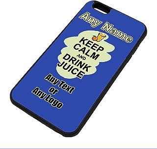 UNIGIFT Gepersonaliseerd geschenk - Houd kalm Drink Juice iPhone Case (Voedsel Design) Elke Naam Bericht Unieke Apple TPU ...