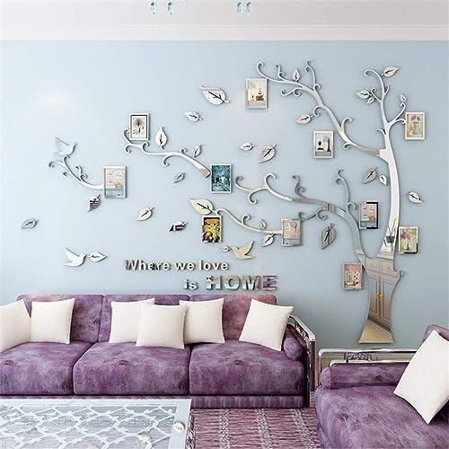 Arbre Sticker Muraux 3D Autocollants DIY Famille Cadre de Photo Stickers Mural Arts Décoration pour Garderie, Chambre...
