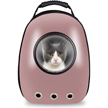 ZENY Portable Pet Carrier Space Capsule Backpack, Astronaut Pet Cat Dog Puppy Carrier Travel Bag