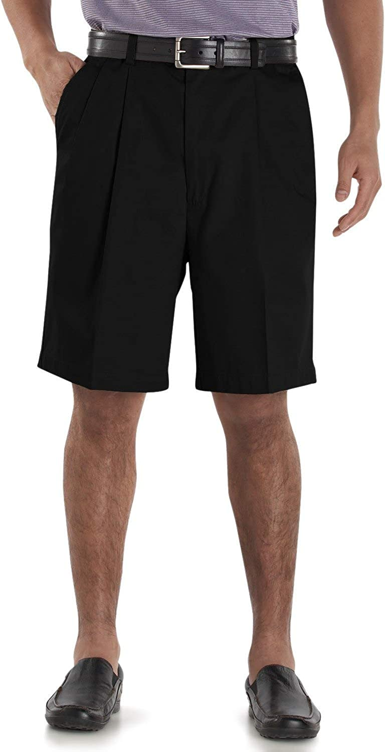 Cutter And Buck Men's Big And Tall Wrinkle Free Short, Black, Large