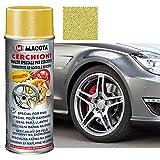 macota 1210078 vernice oro ruote spray smalto speciale per cerchioni, 400 ml