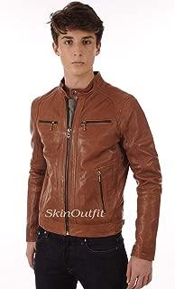 SKINOUTFIT Mens Leather Jackets Motorcycle Bomber Biker Genuine Lambskin 84
