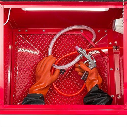 Arebos Cabine de sablage 90 Litres