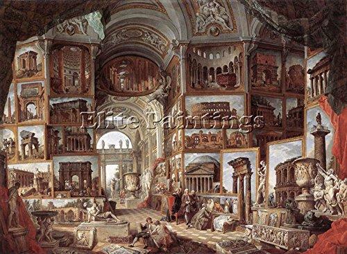 Elite-Paintings PANNINI Giovanni Paolo Roma Antica Artista Quadro Dipinto Olio su Tela A Mano 90x120cm Alta qualita