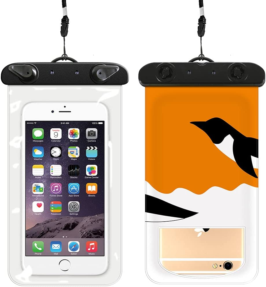Waterproof Phone Case [2-Pack], Universal Waterproof Phone Pouch Cell Phone Dry Bag with Lanyard for iPhone 12 Pro 11 Pro Max XS Max XR X 8 7 Samsung Galaxy s10/s9 Google Pixel 2 HTC Up to 6.0