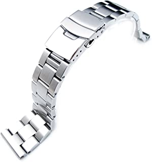 20mm Solid 316l Stainless Steel Super-O Boyer Straight End Watch Band