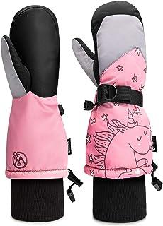 OutdoorMaster Kids Ski Gloves, Kids Ski Mittens Long Cuff Waterproof Winter Gloves, Snow Gloves for Children Girls and Boy...