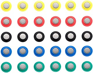 30Pcs Heavy Duty Refrigerator Magnets with Assorted Colors, 20mm-Diameter, Perfect Fridge Magnets, Photo Magnets, Map Magnets, Whiteboard Magnets
