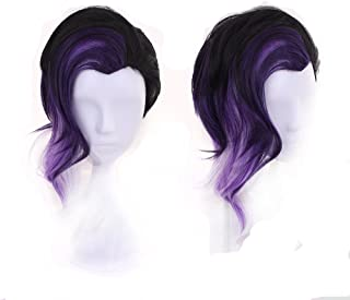 Women's Fashion Purple and Black Cosplay Wigs for Game