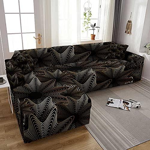 WXQY Fundas de sofá elásticas de impresión Moderna para Sala de Estar Fundas de sofá elásticas Fundas de sofá Funda de sillones A2 1 Plaza