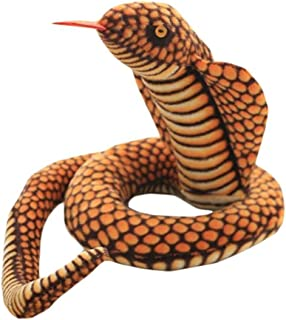 VSFNDB Cobra Stuffed Animal 44 Inch Long Qamra The Queen Cobra Stuff Snake Python Plush Toy for Kids