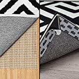 Gorilla Grip Area Rug Pad and Rug Corners, 8 Piece, Rug Pad Size 2x8, Both for Hard Floors, 2 Item Bundle