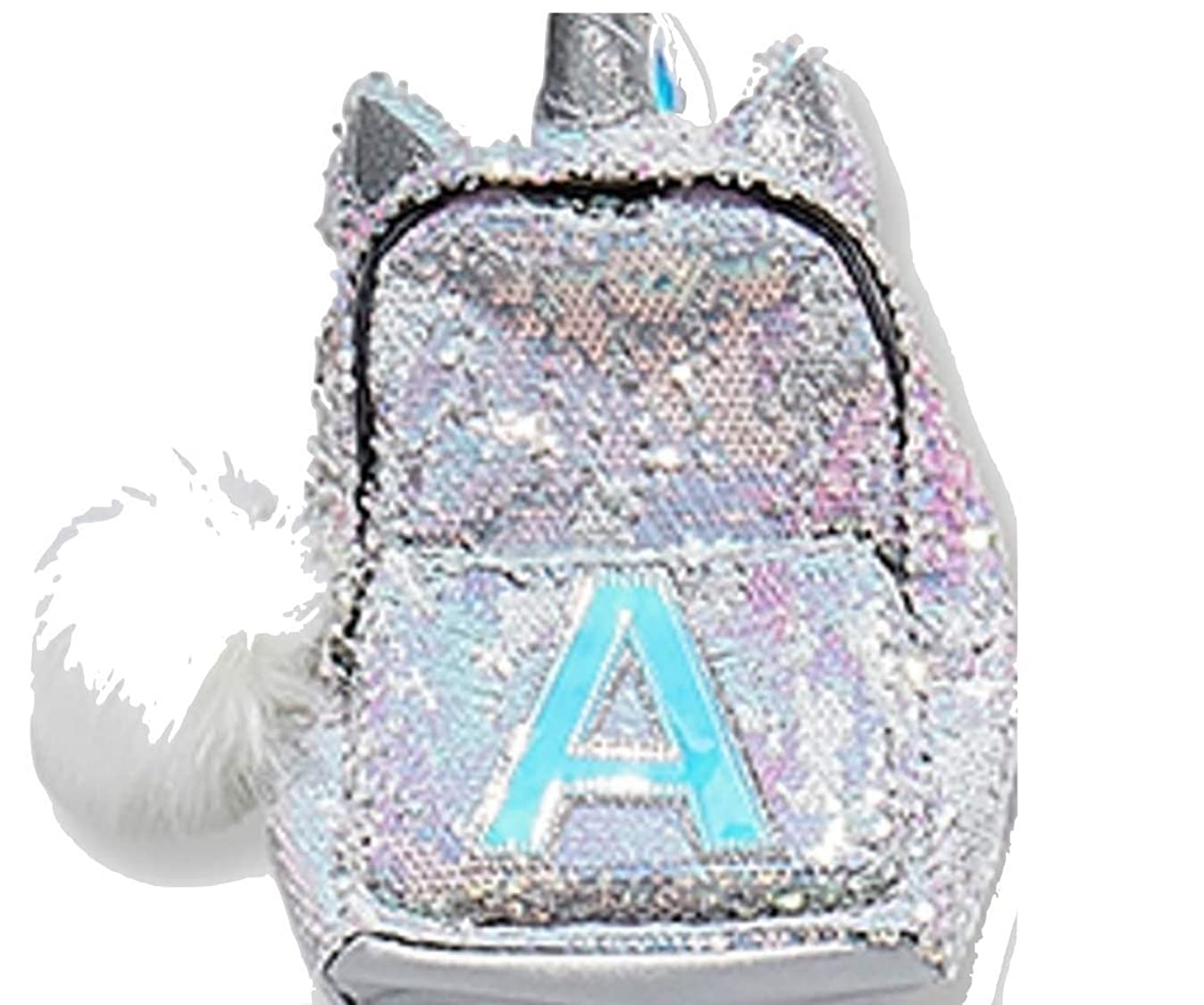 Justice Justice Girls Initial Unicorn Flip Sequin Mini Backpack Letter (A) e1563392259