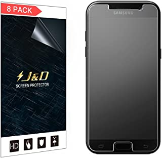 J&D Compatible for 8-Pack Galaxy A5 2017 Screen Protector, [Anti-Glare] [Not Full Coverage] Matte Film Shield Screen Protector for Samsung Galaxy A5 (Release in 2017) Matte Screen Protector