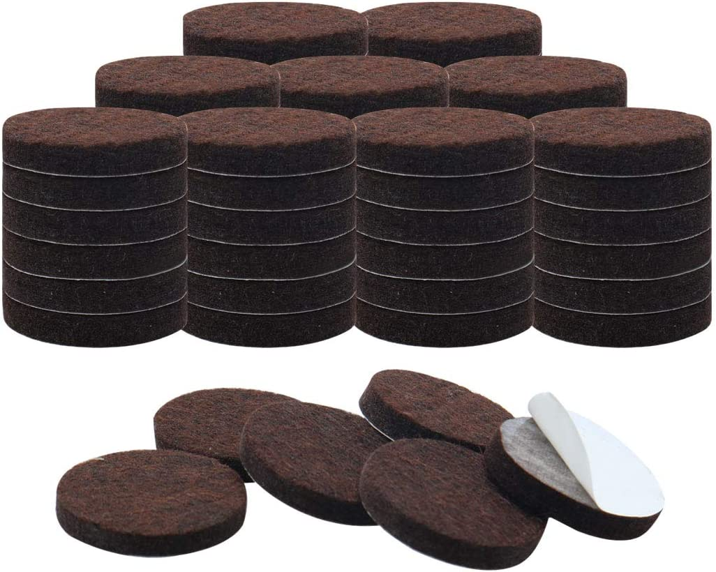 uxcell 60pcs Furniture Pads Round 7/8