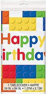 Unique Building Blocks Happy Birthday Table Cover