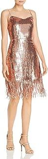 Womens Metallic Cocktail Dress