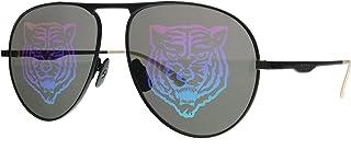 GG0334S 002 Black Metal Aviator Sunglasses Gucci Tiger Lens