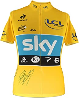 Bradley Wiggins Signed Tour De France 2012 Yellow Jersey | Autographed Cycling Jersey