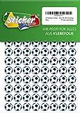 252 Pegatinas de Fútbol, 15 mm, color blanco/azul, de PVC, lámina, impresas, autoadhesivas, EM, WM, Bundesliga